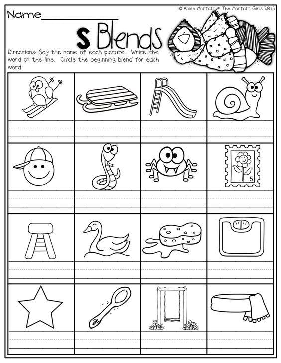 Blends Worksheet for First Grade 83 S Blend Worksheets First Grade