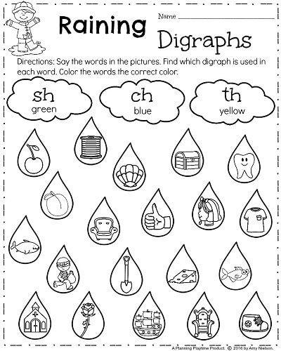 Blends Worksheet for First Grade First Grade Worksheets for Spring