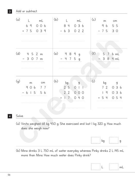 Capacity Worksheets 4th Grade Measuring Capacity Mensuration and Measurement