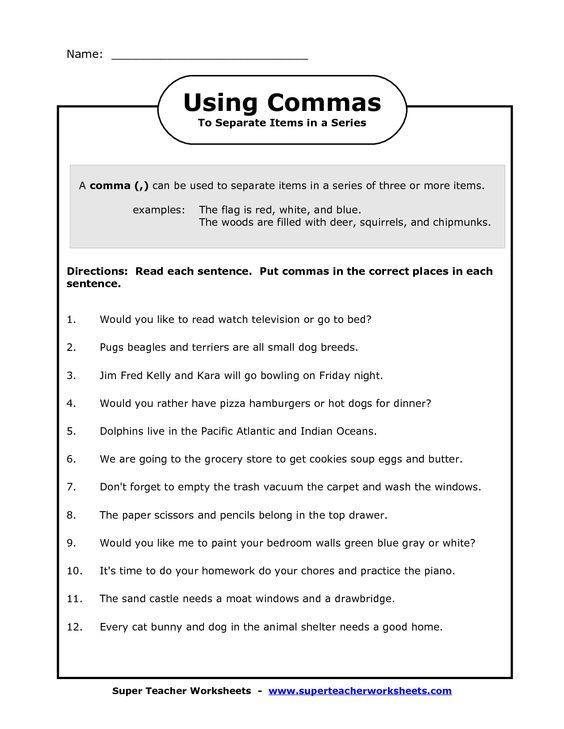 Capitalization Worksheets 4th Grade Ma In A Series Worksheets Image