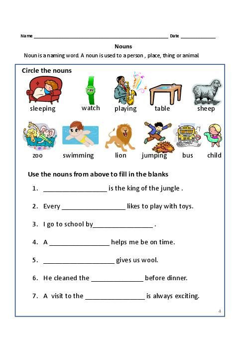 Capitalization Worksheets for 2nd Grade Nouns and Proper Nouns for Grade 1 2 2 496—702