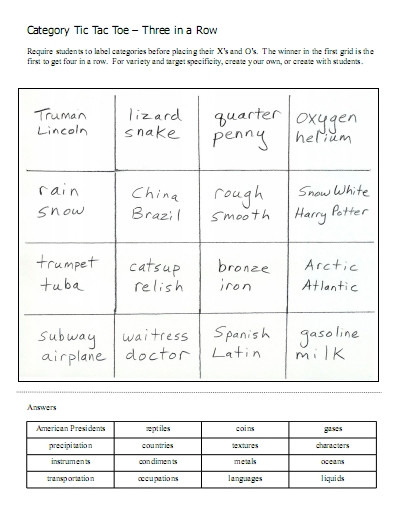 Categorizing Worksheets for 1st Grade Categories – Word Lists Activities Worksheets and More
