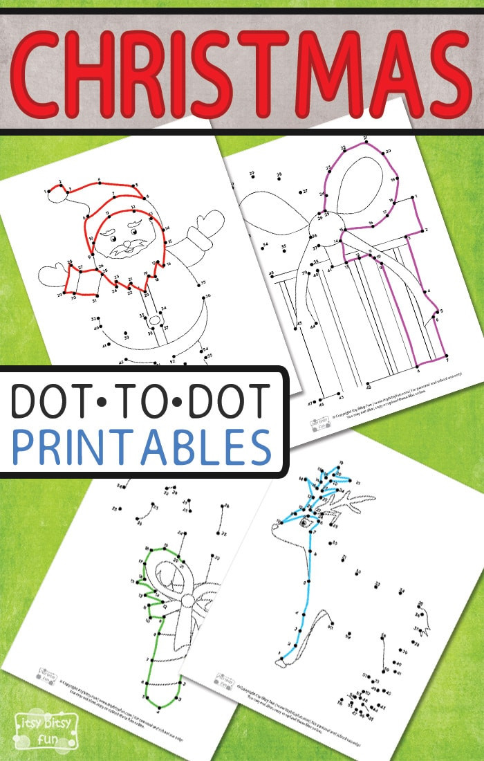 Christmas Connect the Dots Printable Christmas Connect the Dots Itsy Bitsy Fun