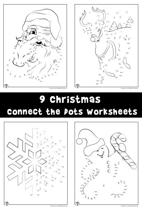 Christmas Connect the Dots Printable Christmas Connect the Dots Worksheets