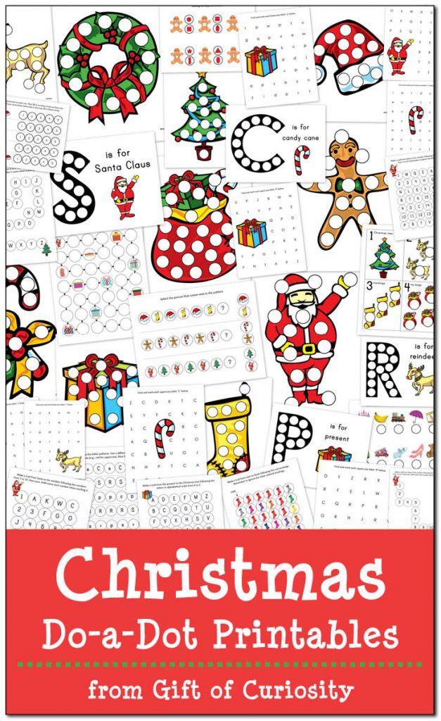 Christmas Dot to Dot Printables Christmas Do A Dot Printables Gift Of Curiosity