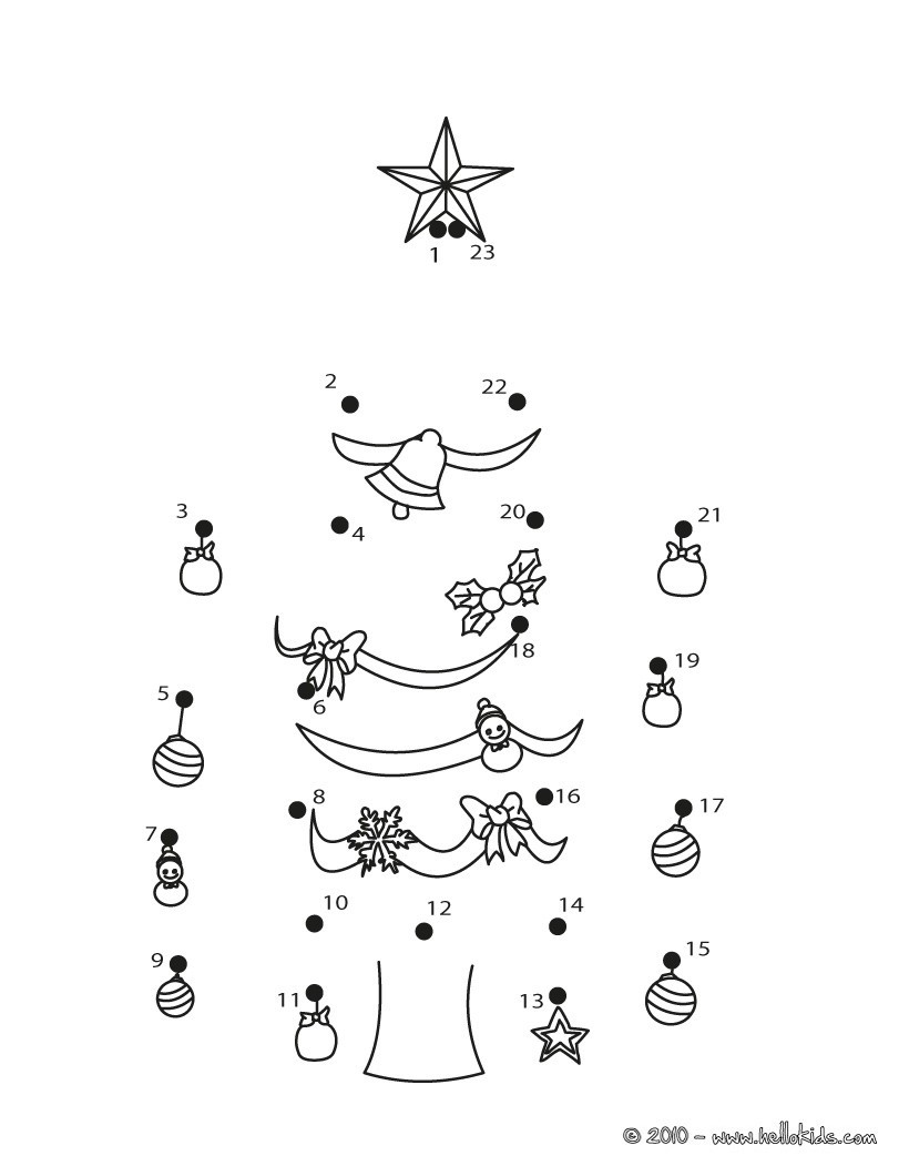 Christmas Dot to Dot Printables Christmas Dot to Dot 24 Free Dot to Dot Printable