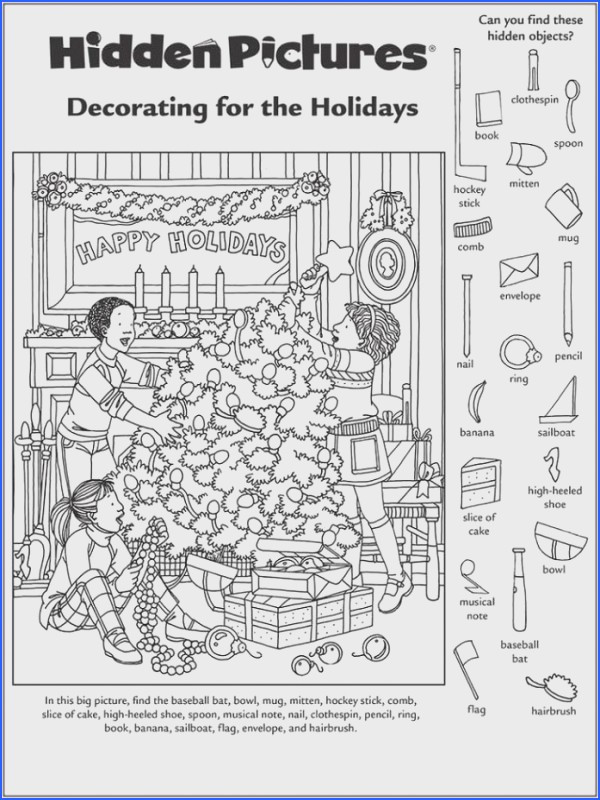 Christmas Hidden Picture Puzzles Printable 45 Engaging Hidden