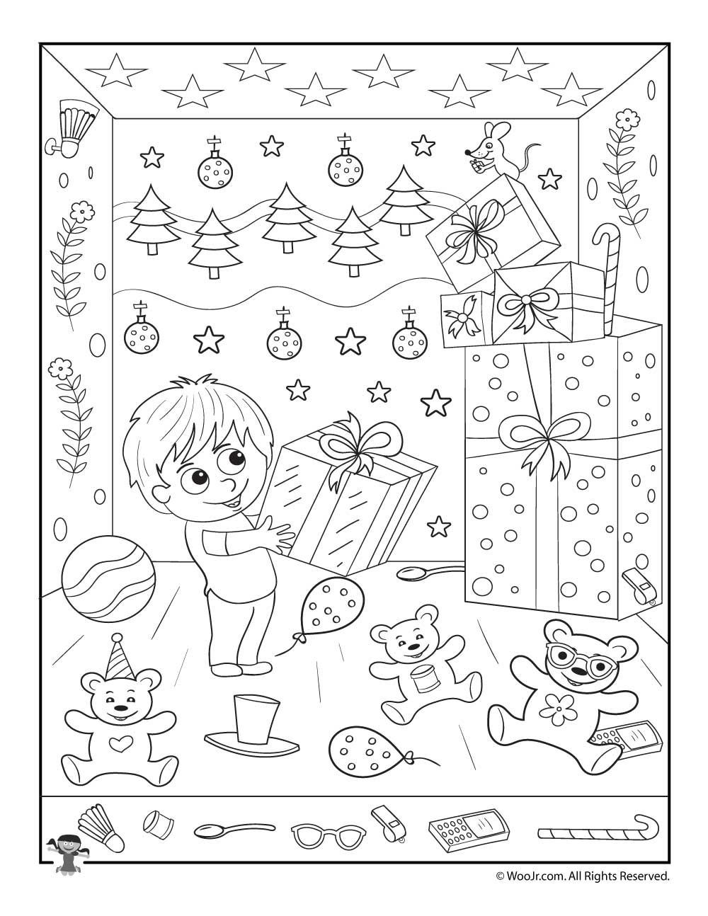 Christmas Hidden Picture Puzzles Printable Christmas Gifts Hidden Printable Activity Childrens