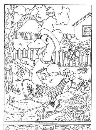 Christmas Hidden Picture Puzzles Printable Hidden Page Print Your Hidden Duck