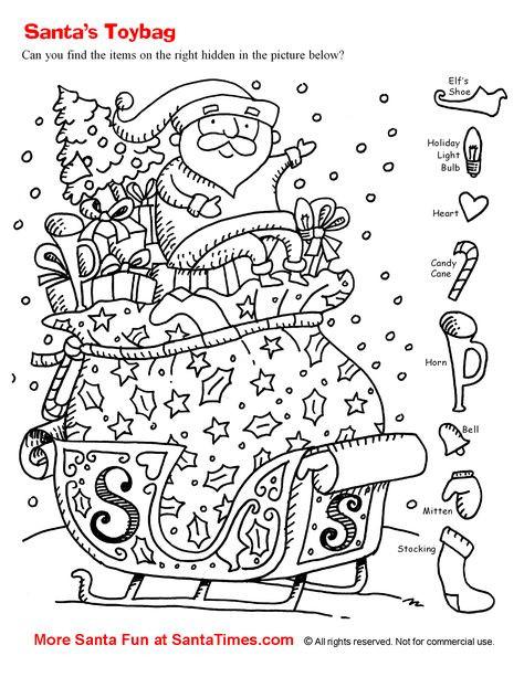 Christmas Hidden Pictures Printable 175 Best Hidden Images In 2020