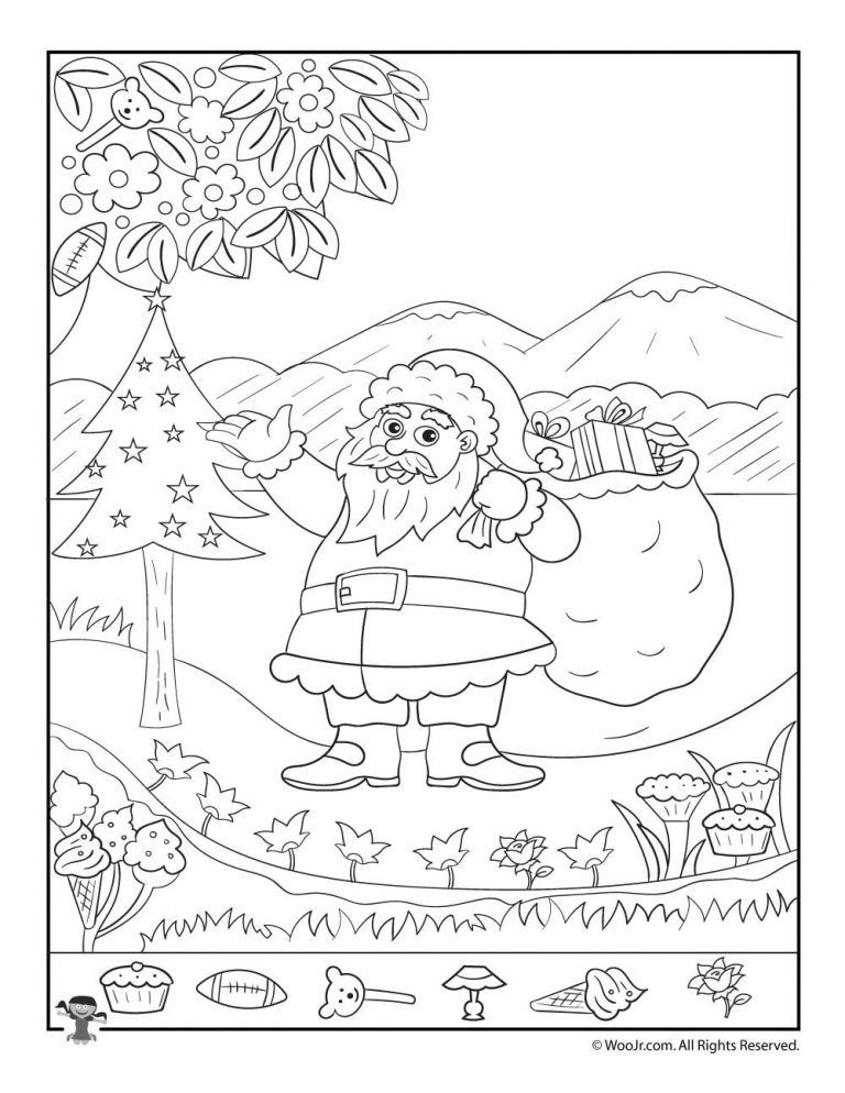 Christmas Hidden Pictures Printable Christmas Hidden Printables for Kids