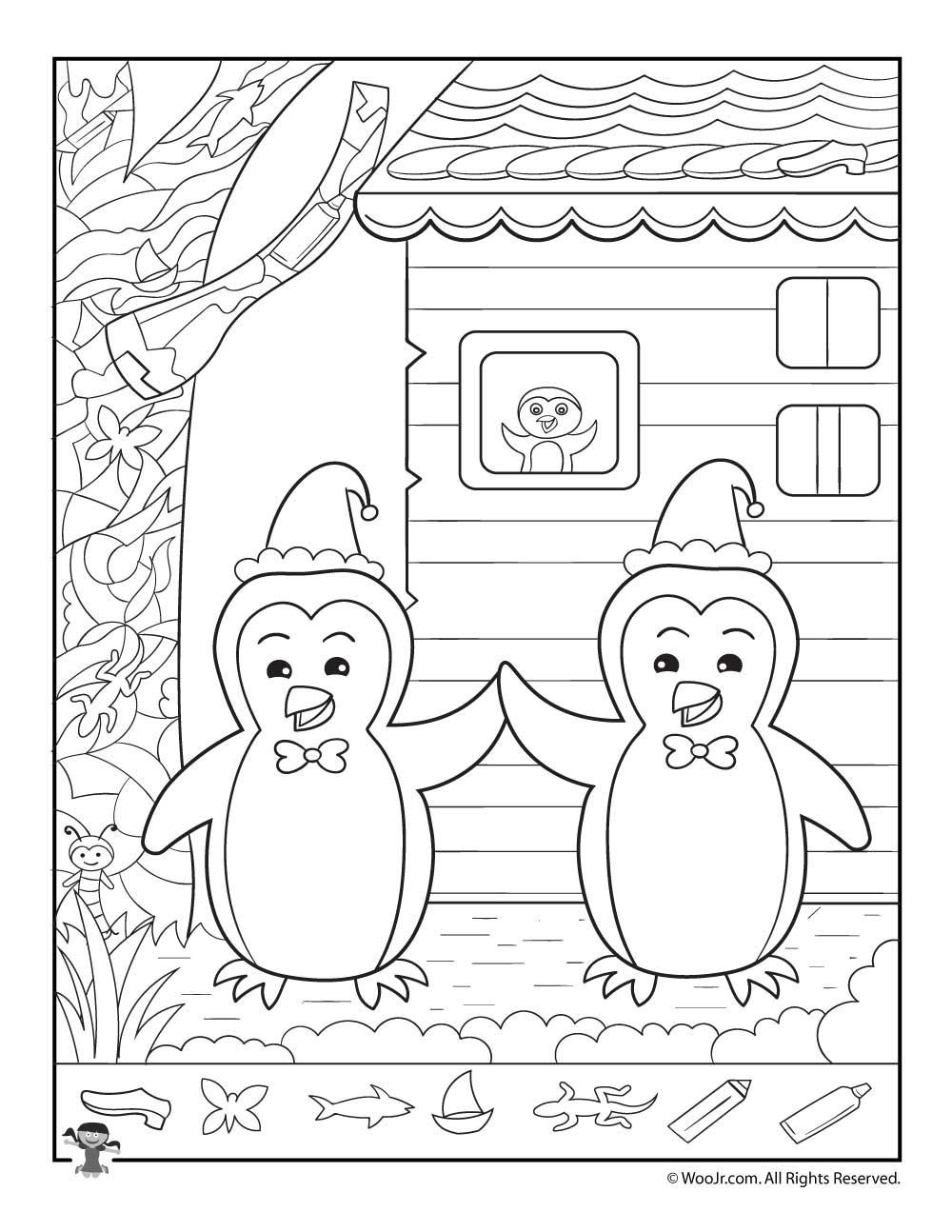 Christmas Hidden Pictures Printable Christmas Hidden Printables for Kids