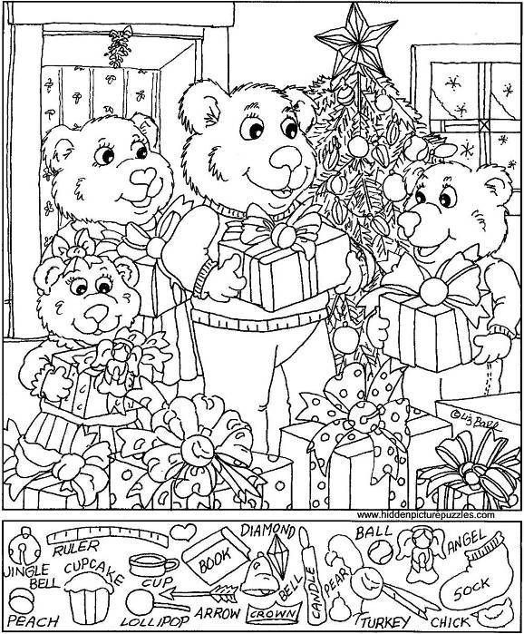 Christmas Hidden Pictures Printable Free Puzzles …