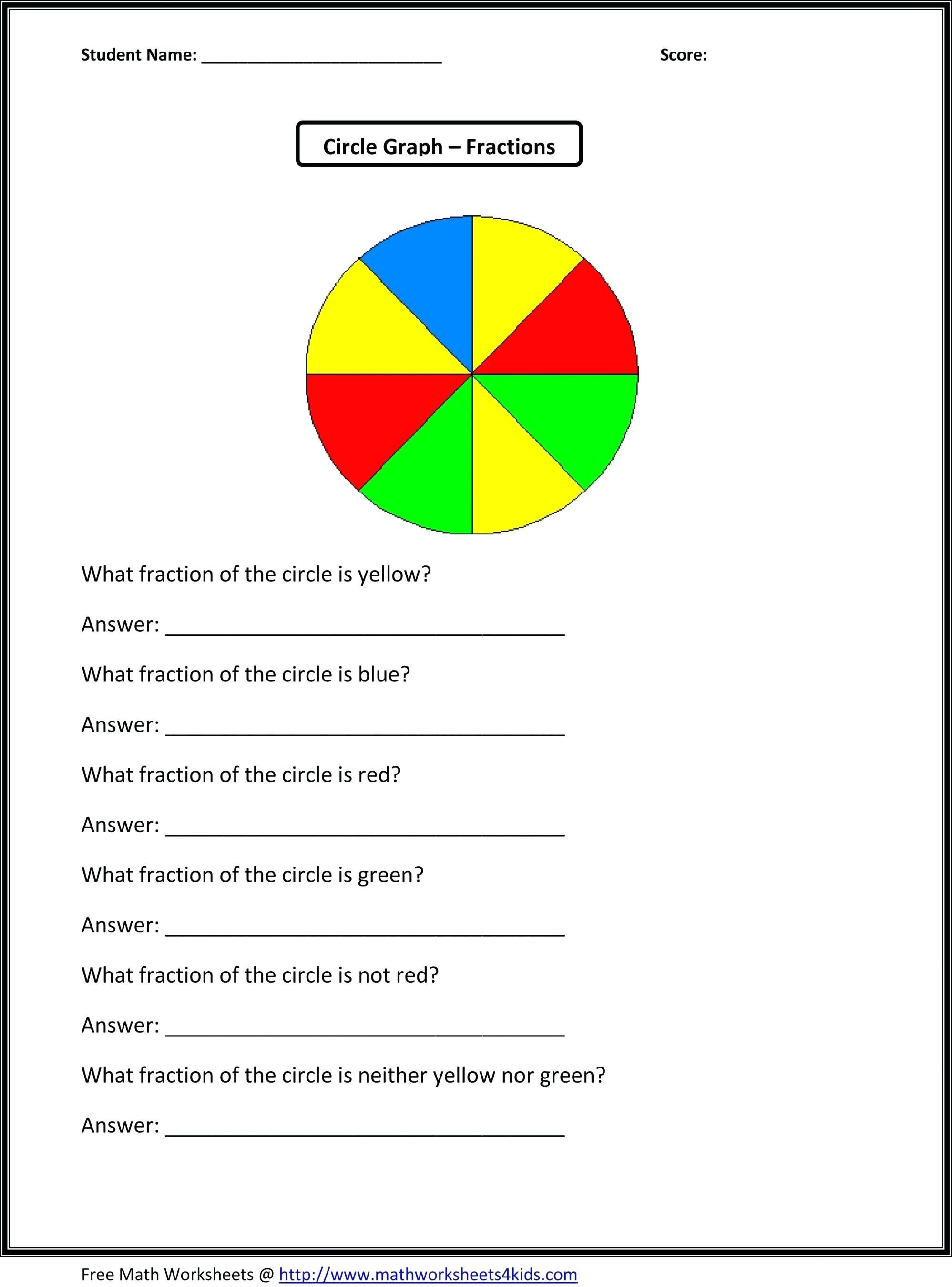 Circle Graphs Worksheets 7th Grade 3rd Grade Graph Worksheets