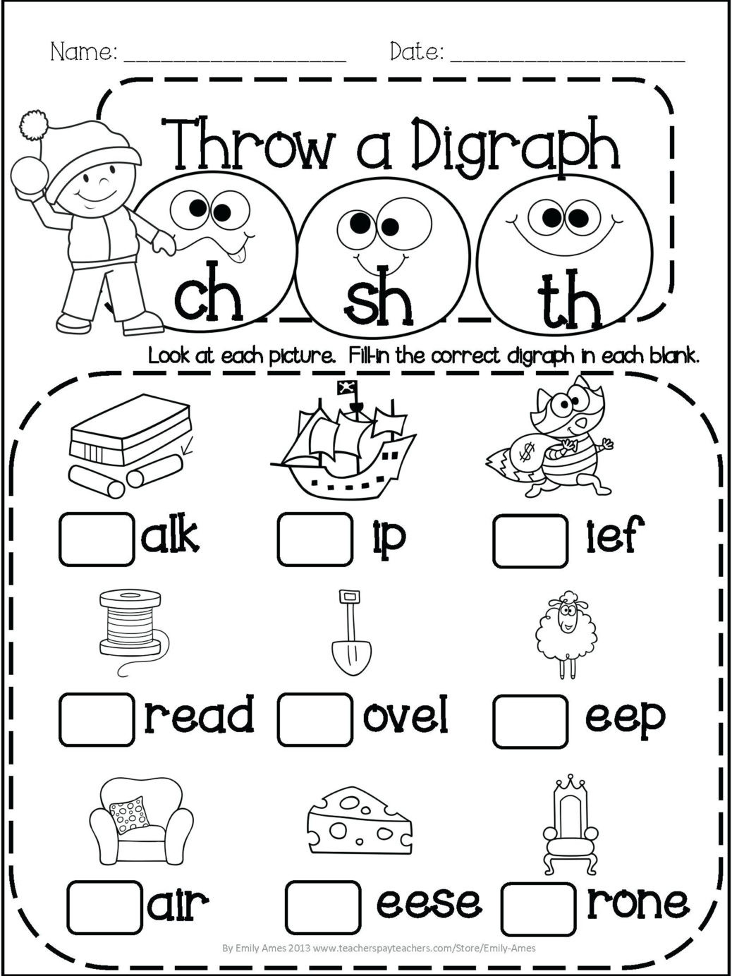 Ck Worksheets for 1st Grade 3rd Grade Phonics Worksheets