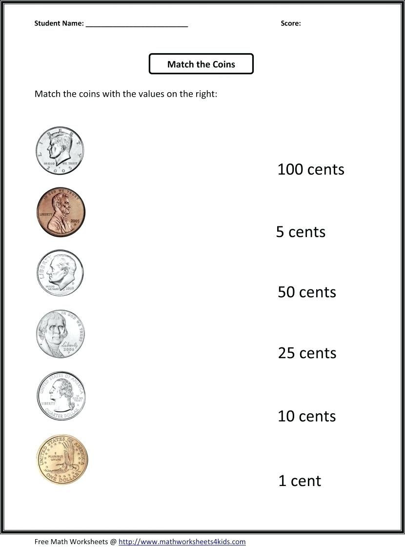 Coin Worksheets First Grade 1st Grade Math Worksheets 1st Grade Money Worksheets Math