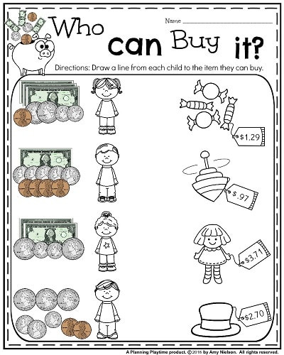 Coin Worksheets for 2nd Grade 66 Fun Money Worksheets to Print