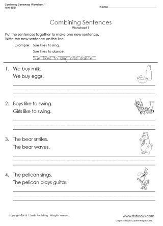 Combining Sentences Worksheets 5th Grade Snapshot Image Of Bining Sentences Worksheet 1