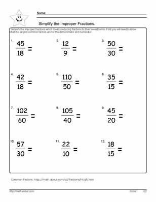 Comparing Fractions Worksheet 3rd Grade 4th Grade Worksheets Equivalent Fractions