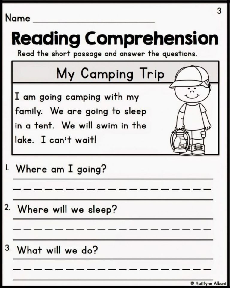 Comprehension Worksheets for First Grade Free Printable Reading Prehension Worksheets for