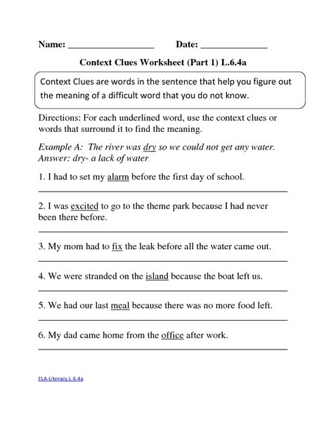 Context Clues Worksheets Grade 5 Context Clues Worksheets Multiple Choice & Fifth Grade