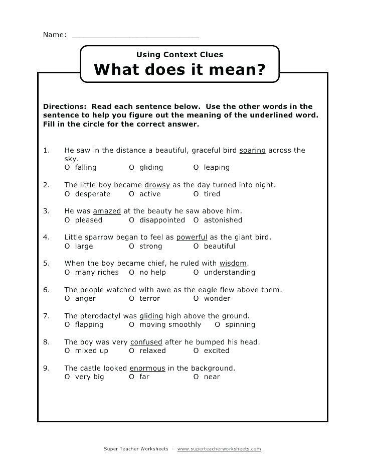 Context Clues Worksheets Second Grade 38 Interesting Context Clues Worksheets