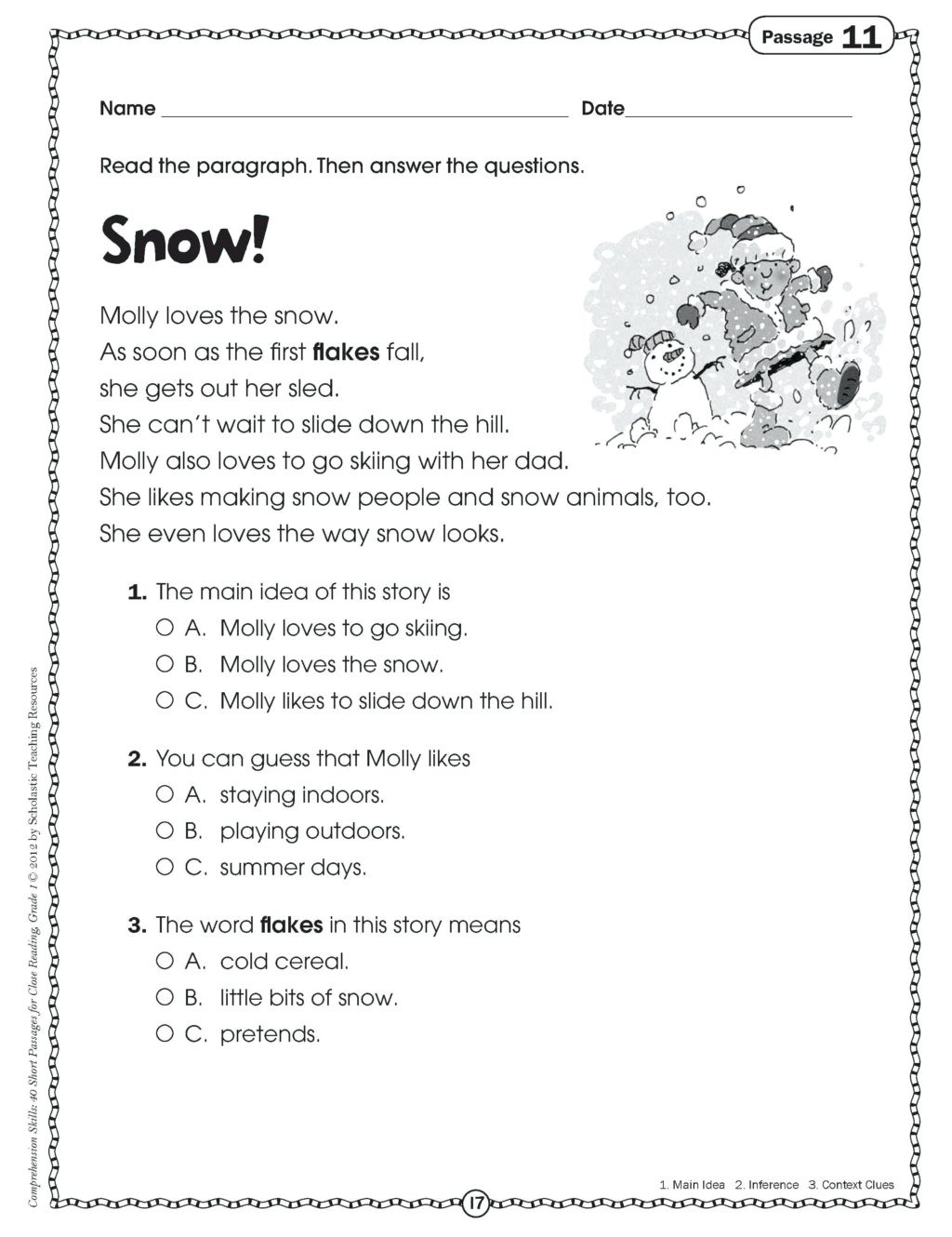 Context Clues Worksheets Second Grade Worksheet Worksheet 2nd Grade Reading Skills Worksheets