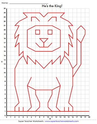Coordinate Grid Pictures 5th Grade Mystery Graph Picture Worksheets