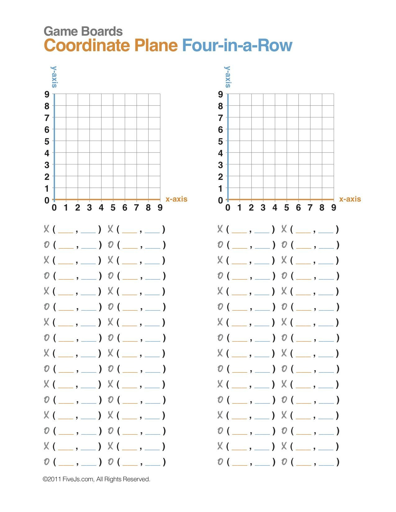 Coordinate Grid Worksheet 5th Grade Coordinate Plane Math Game Free