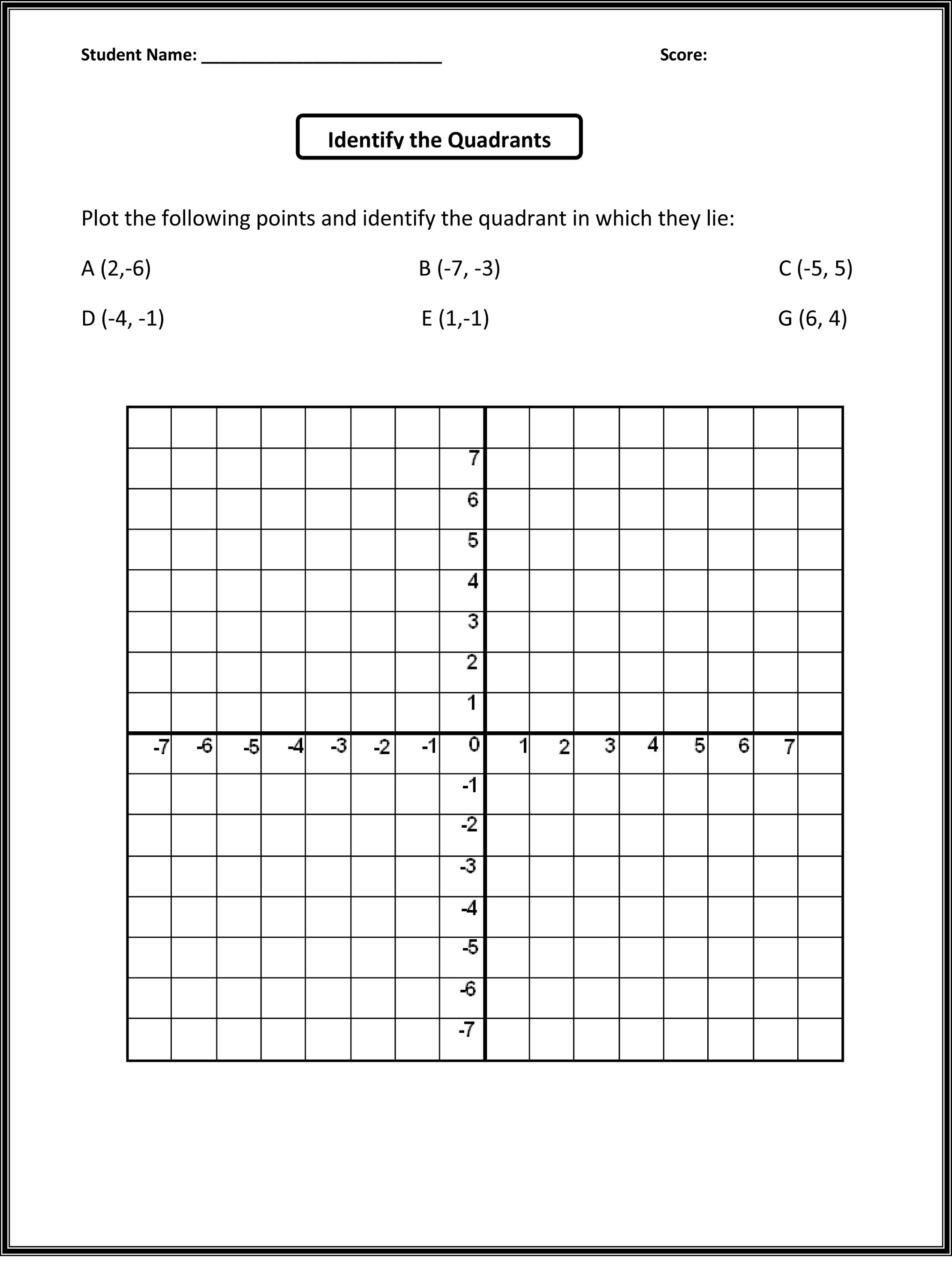 Coordinate Grid Worksheet 5th Grade Math Plotting Points Worksheets & Grid Worksheets