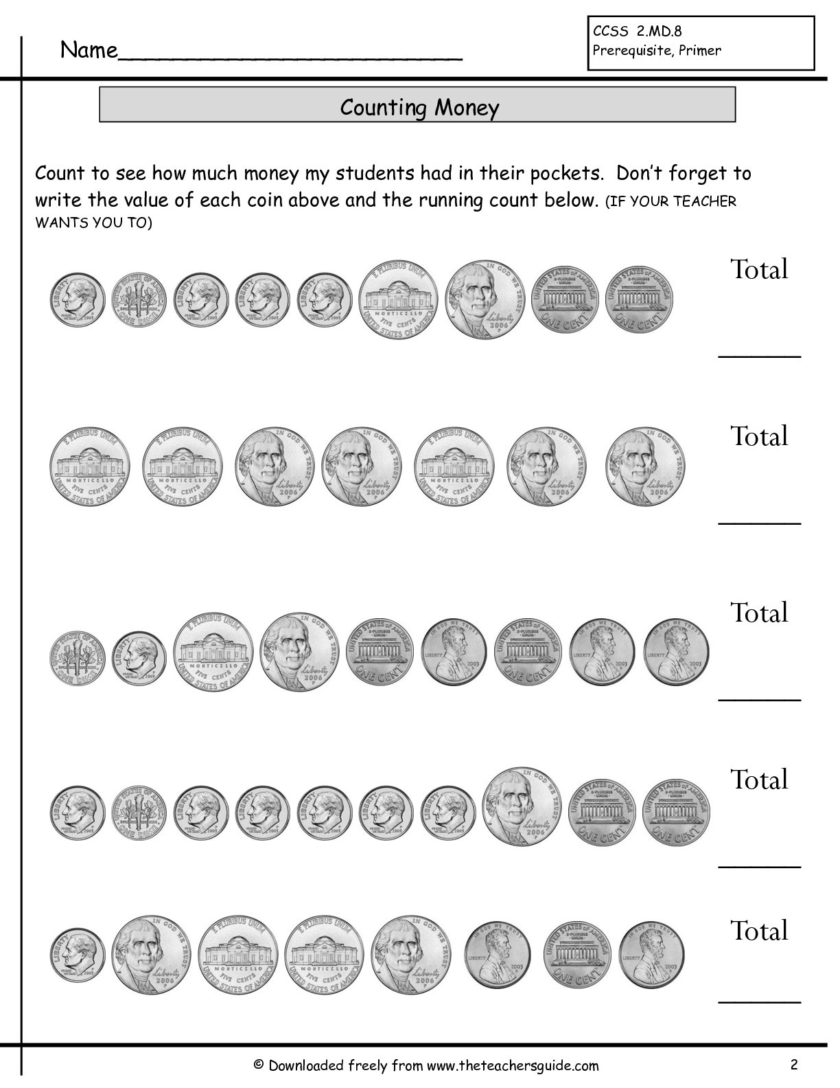 Counting Coins Worksheets 2nd Grade Counting Money T2 Lessons Tes Teach