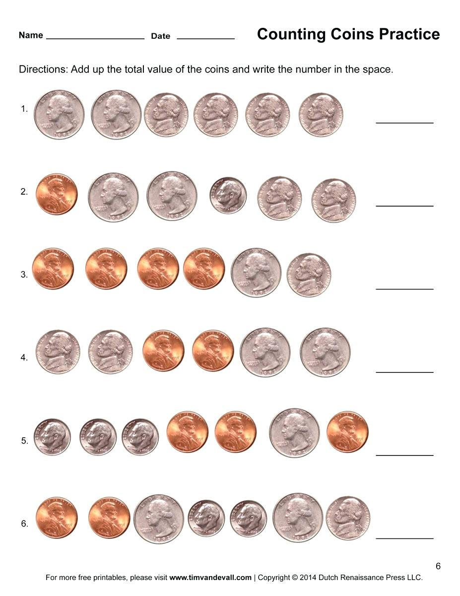 Counting Coins Worksheets 2nd Grade Counting Money Worksheet Free Worksheets Library Download