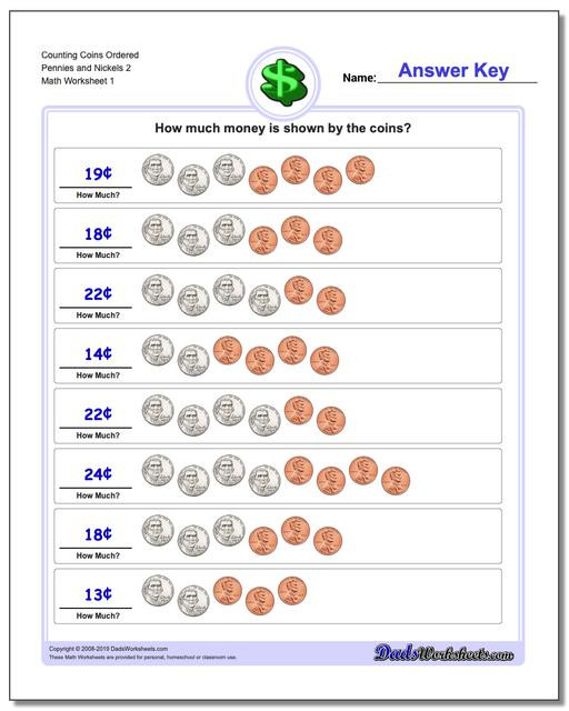 Counting Coins Worksheets First Grade Counting Coins