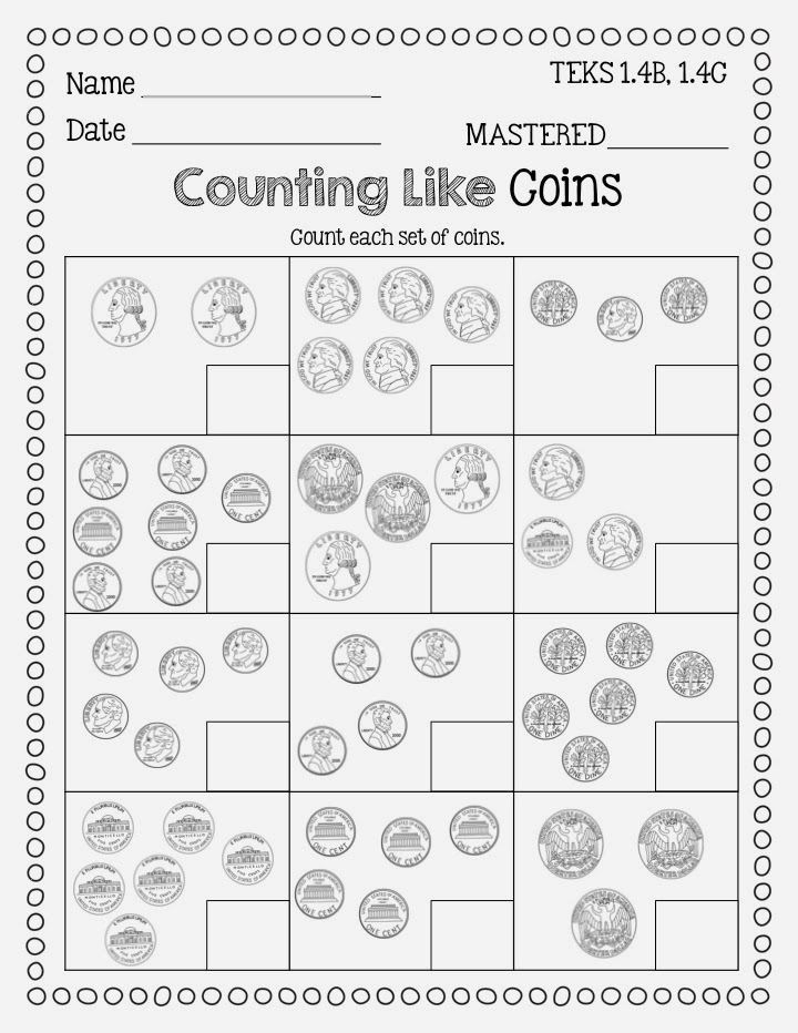 Counting Coins Worksheets First Grade Identifying Coins and Counting Coins Freebie From Flying