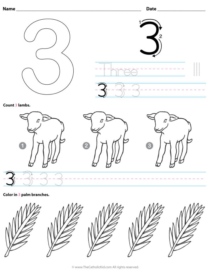 Counting Worksheets Preschool Archives the Catholic Kid Coloring and Games Number