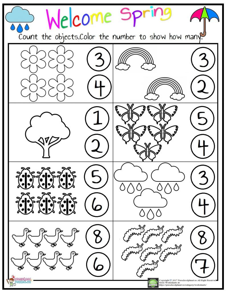 Counting Worksheets Preschool Counting Worksheet – Preschoolplanet