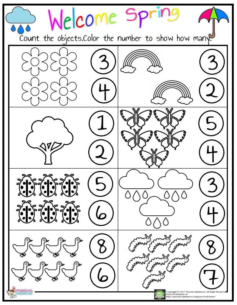 Counting Worksheets Preschool Counting Worksheet – Preschoolplanet