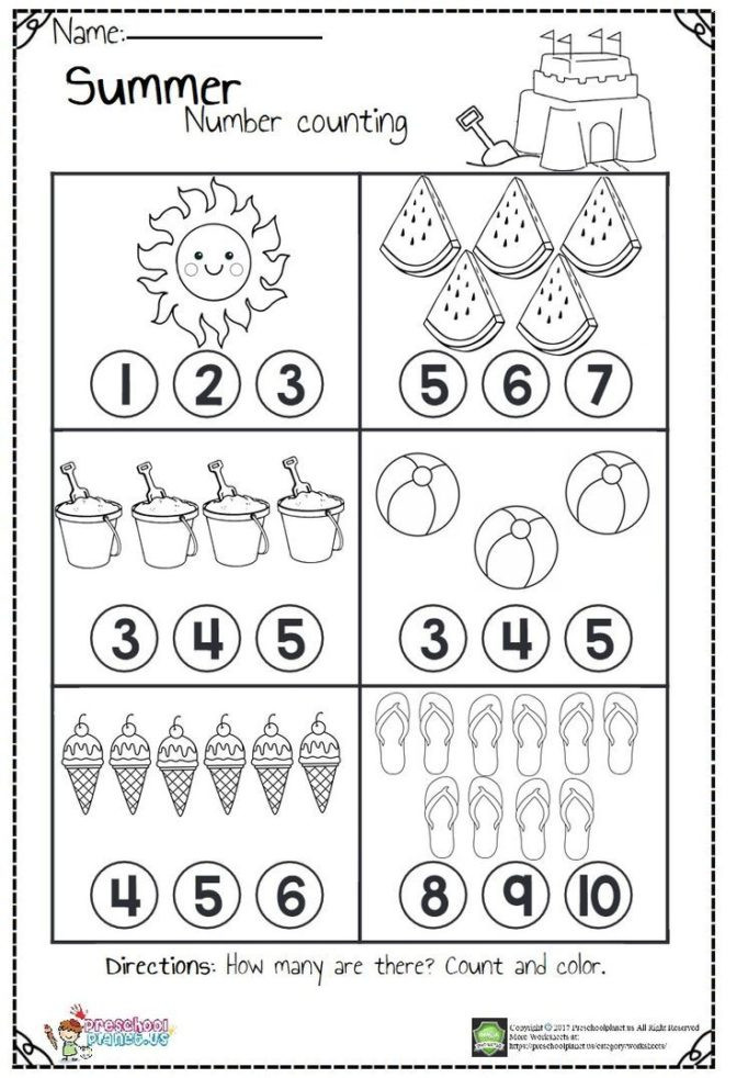 Counting Worksheets Preschool Math Worksheet 45 Awesome Number Worksheets for Preschool