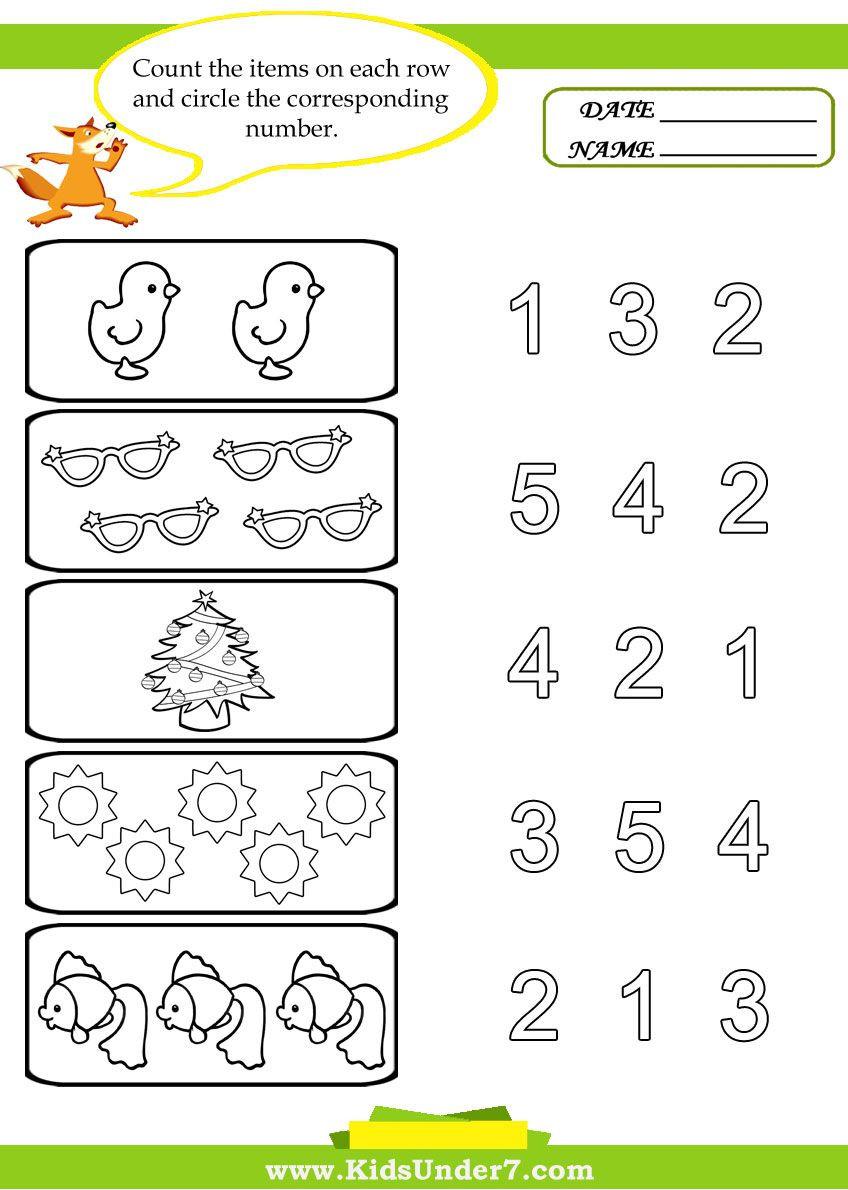 Counting Worksheets Preschool Preschool Worksheets