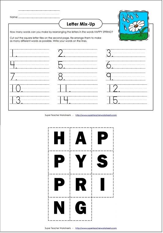 Decoding Worksheets for 1st Grade Spring Worksheets