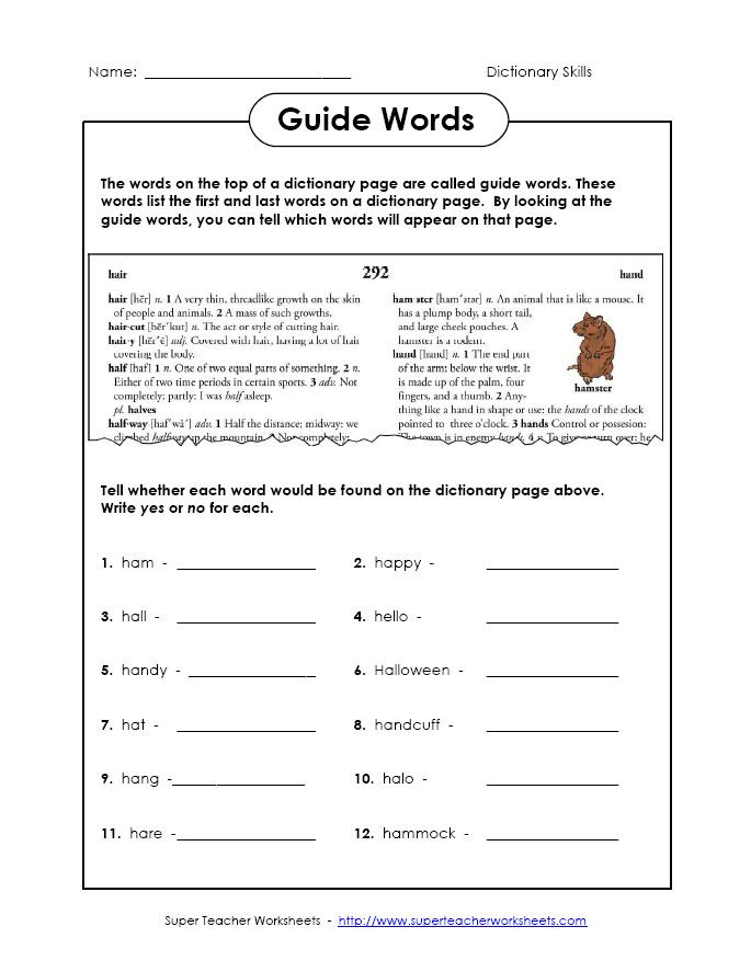 Dictionary Skill Worksheets 3rd Grade 2 Worksheets On Dictionary Skills for 4th Grade Grade