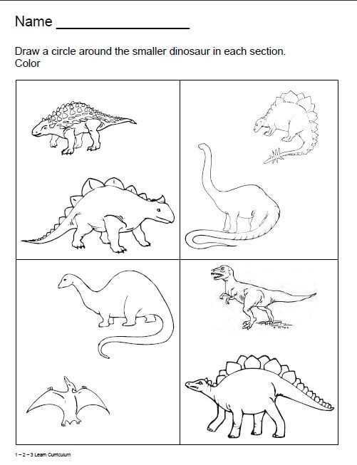 Dinosaur Worksheets for Preschoolers Dinosaur Worksheets