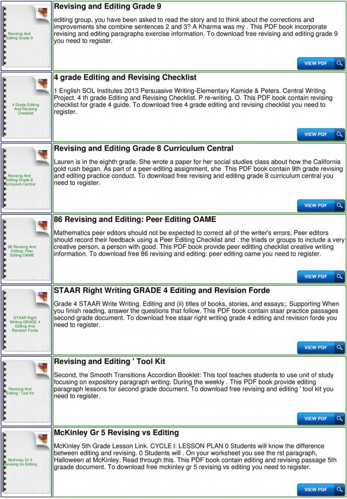 Editing Worksheet 3rd Grade Editing Guide Worksheets