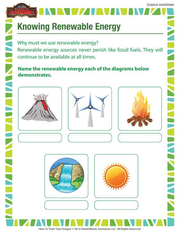 Energy Worksheets for 3rd Grade Knowing Renewable Energy Printable Science Worksheet for
