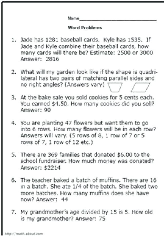 Estimating Word Problems 3rd Grade Estimation Word Problems 3rd Grade Bunch Ideas Fraction