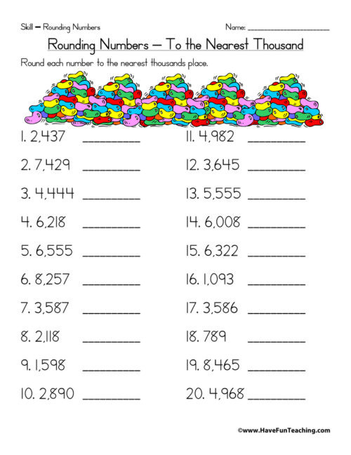 rounding worksheet nearest thousand 500x648