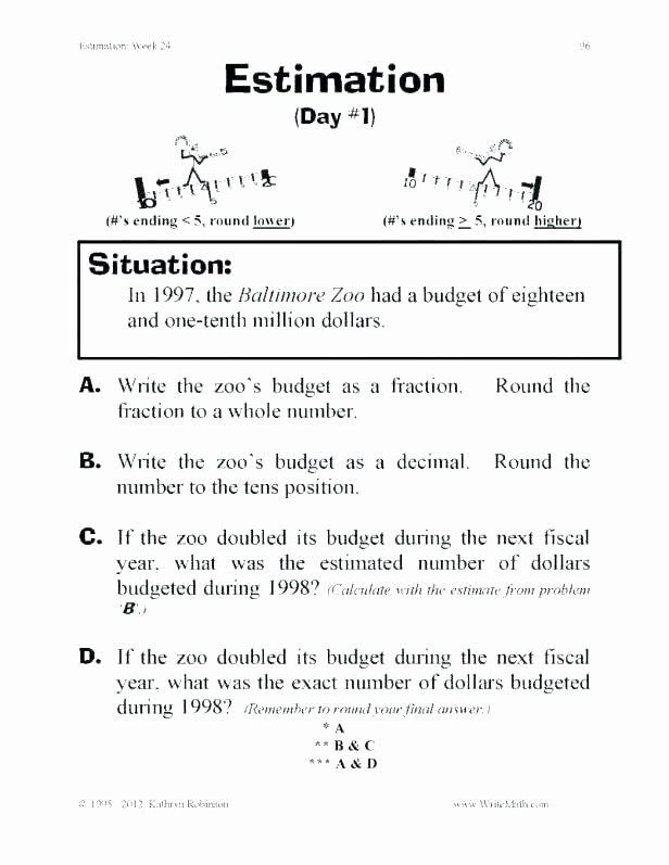 Estimation Worksheets 3rd Grade Pin On Editable Grade Worksheet Templates