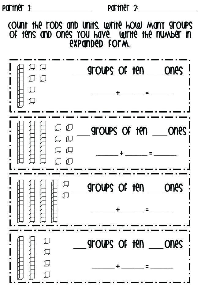 Expanded form Worksheets 1st Grade Expanded Notation Worksheets Grade 4 – Leter