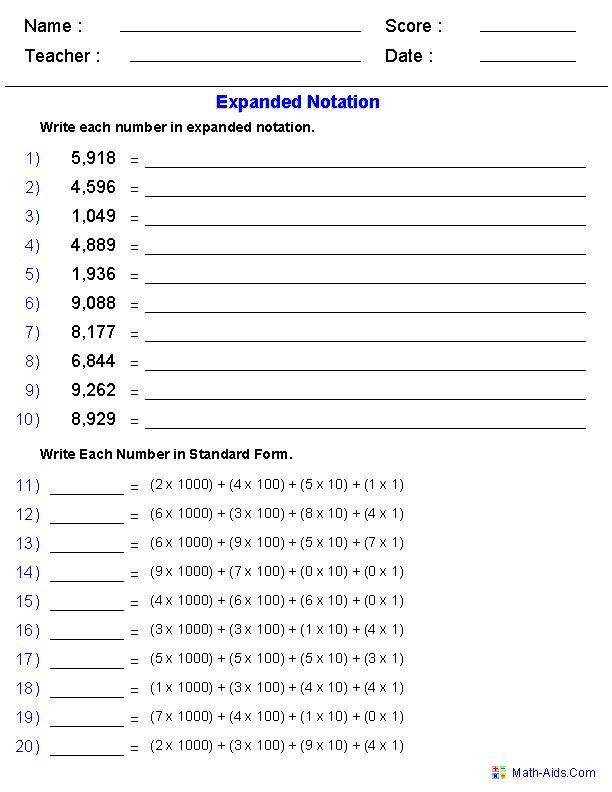 Expanded form Worksheets 5th Grade Place Value Worksheets 4th Grade Pdf 47 Super Best 184