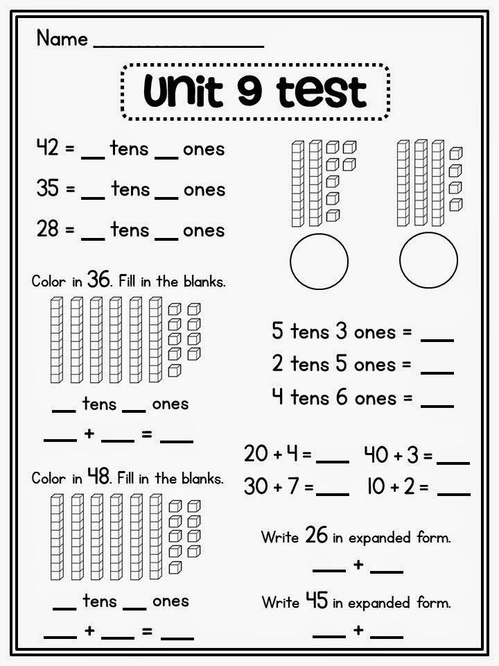Expanded form Worksheets Second Grade Free Printable Place Value Chart New with Images